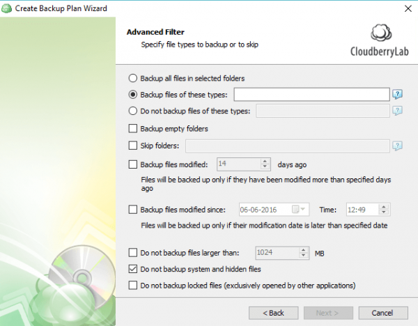 Cloudberry Backup for Google Drive