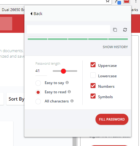 lastpass password generator