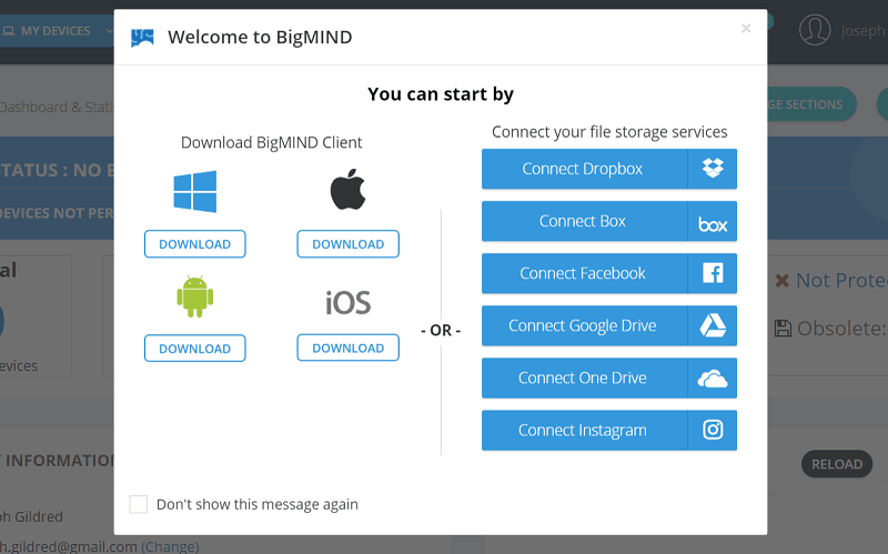BigMIND Connection Options