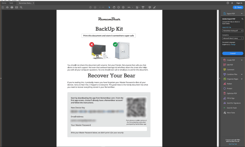 RememBear-Backup-Kit