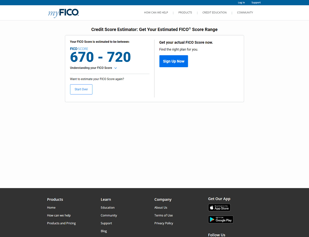 Price Rate  Fico Score Credit Report