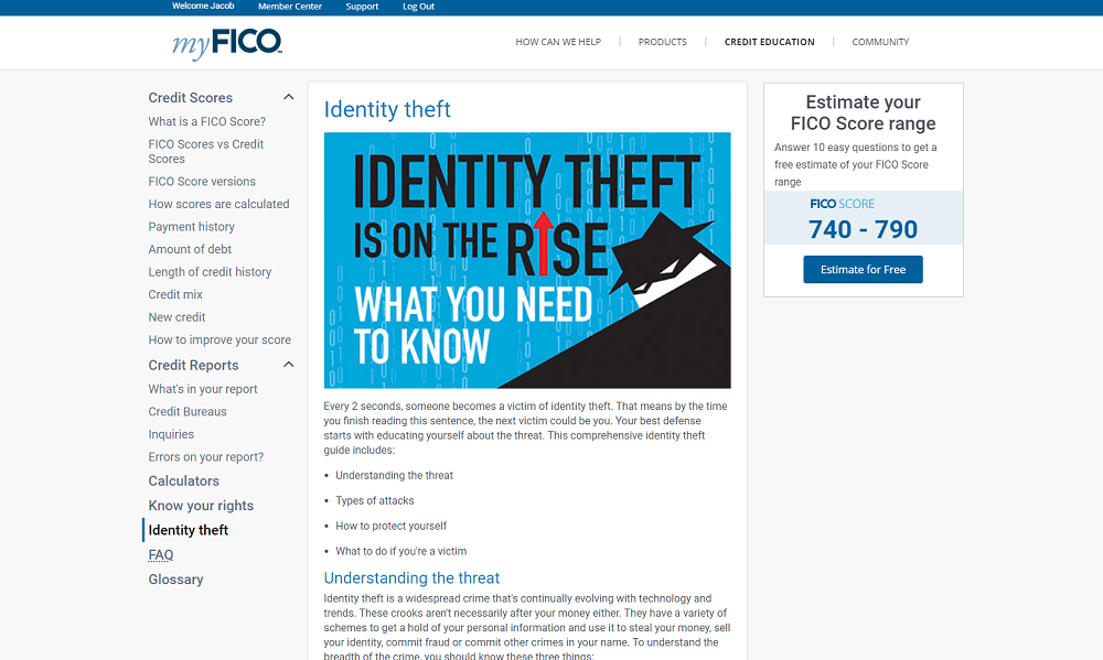 Myfico Fico Score Credit Report Warranty Chat Support