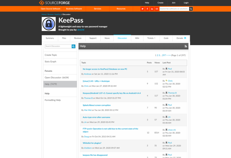 keepass-forums